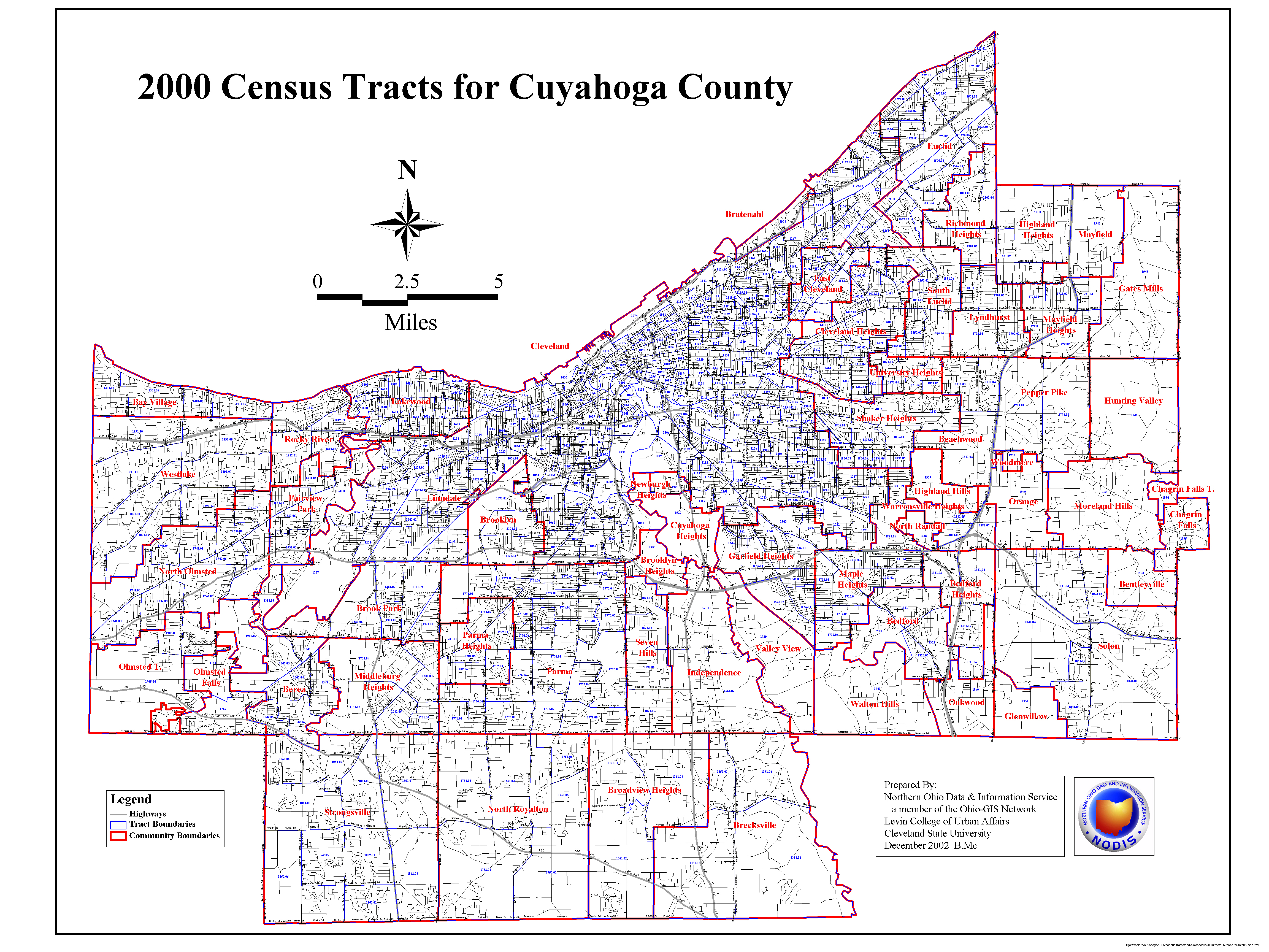 census tract map for cuyahoga county